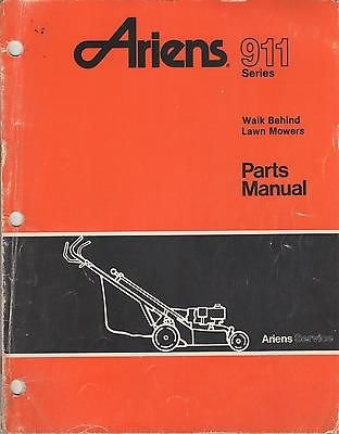8 1990 Ariens 911 Series Walk Behind Lawn Mowers Parts
