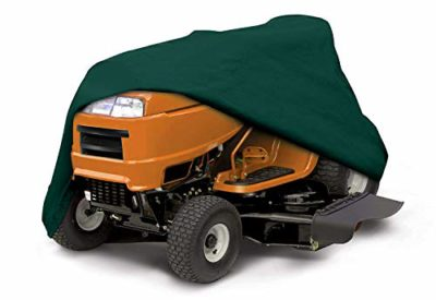 Ecover Dustproof Lawn Mower Cover Riding Lawn Tractor Cover UV Protection  Universal Fit With Drawstring Cover Storage Bag, L6.4 X W5.4 X H4.6ft Dark  Green